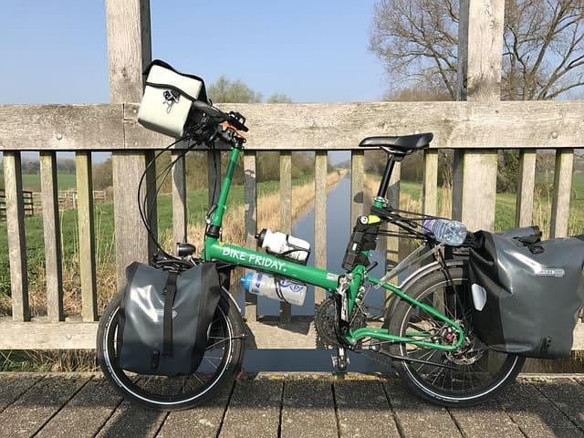 Bicicleta-plegable-verde