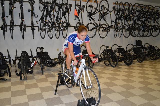 Entrenando-bicicleta