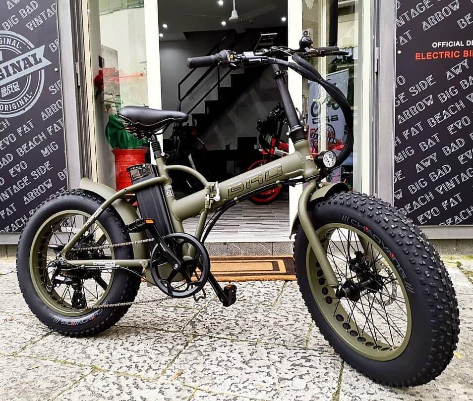 Bici-plegable-verde