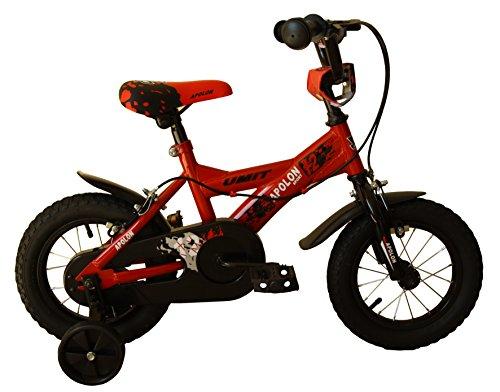 Bicicleta infantil en rojo y negro