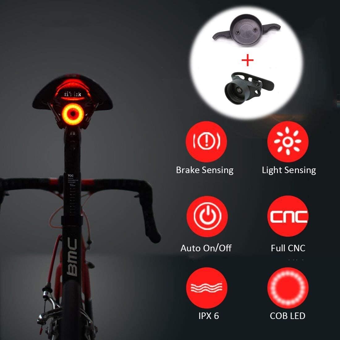 Luz Trasera de Bicicleta Recargable USB