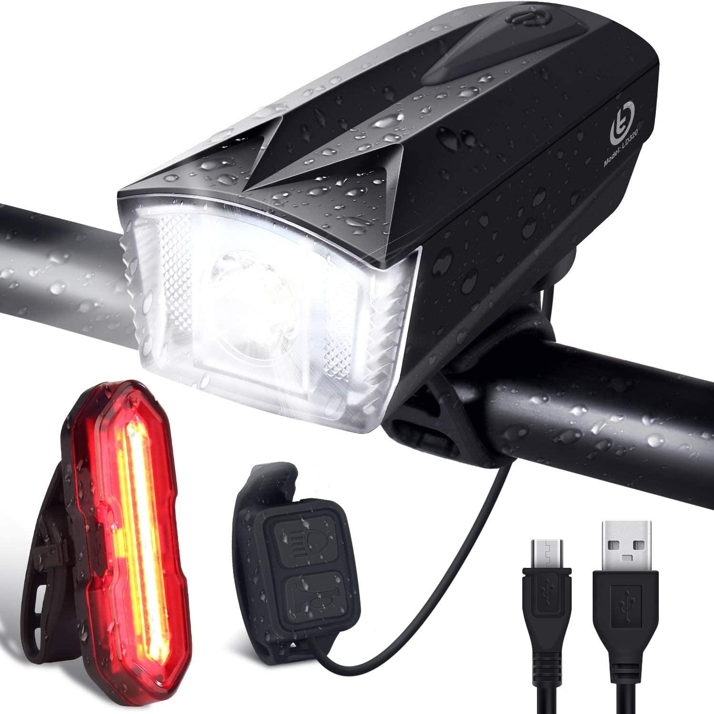 OMERIL - Luces Bicicleta Delantera y Trasera Linterna