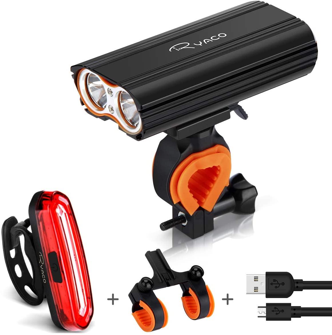 Ryaco Luz Bicicleta Recargable USB